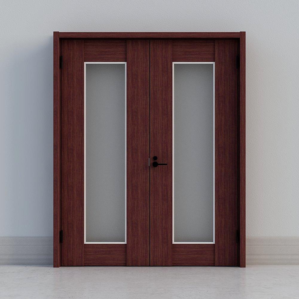 骊住木门-室内门-bcw双开门-dd黑胡桃色