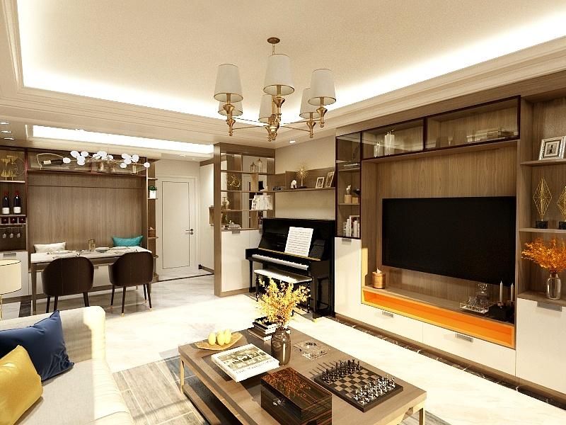 广州翰林阁80房.现代简约.两房两厅