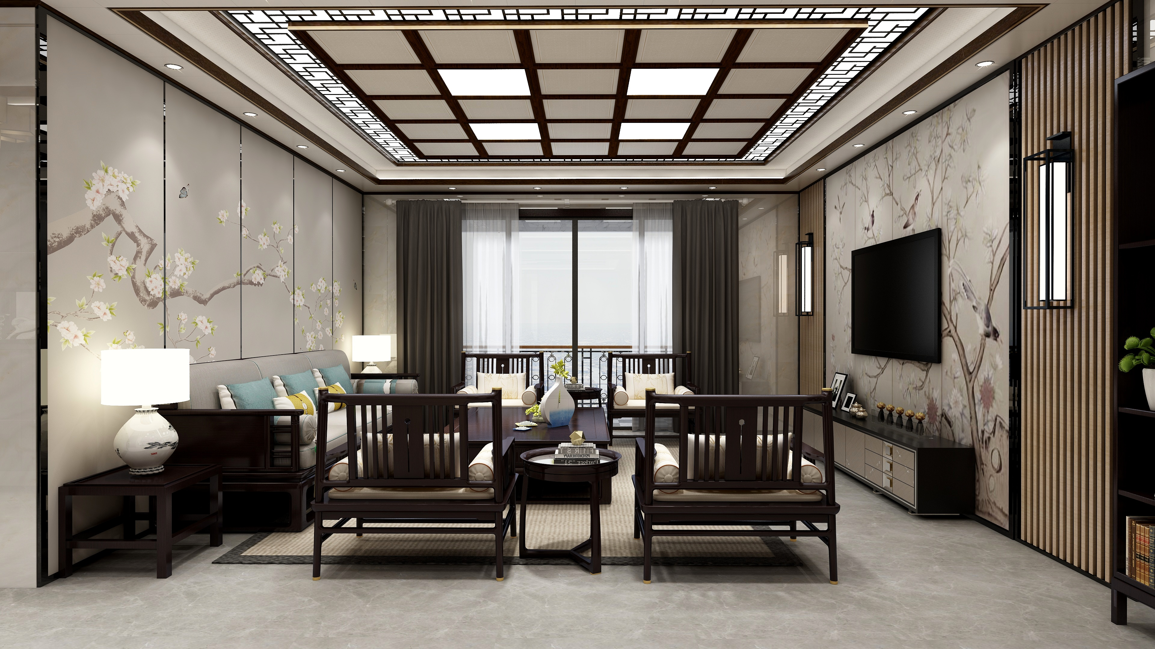 河南南阳-鼎盛1601-新中式风格